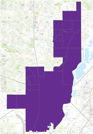 District Boundaries Map, Link to larger map
