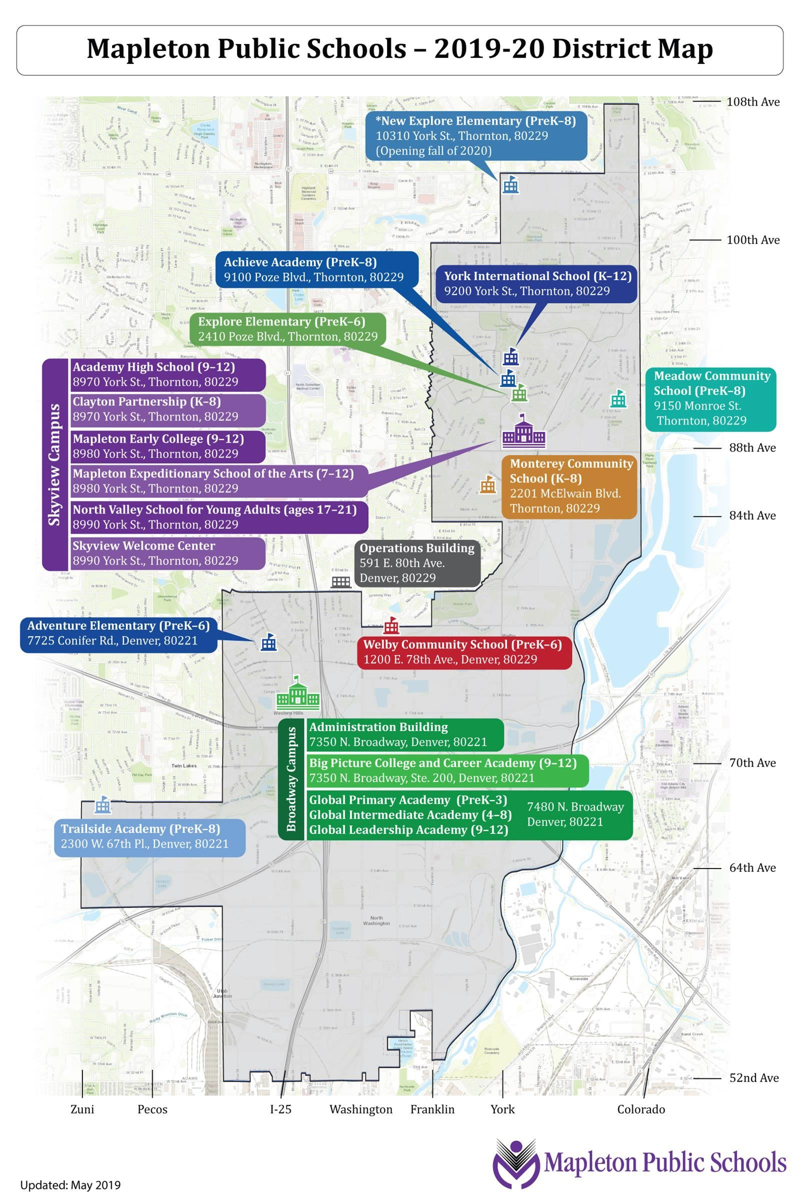 Welcome Center (Enrollment) / District Map on