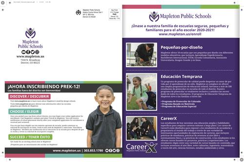 Enrollment postcard in Spanish