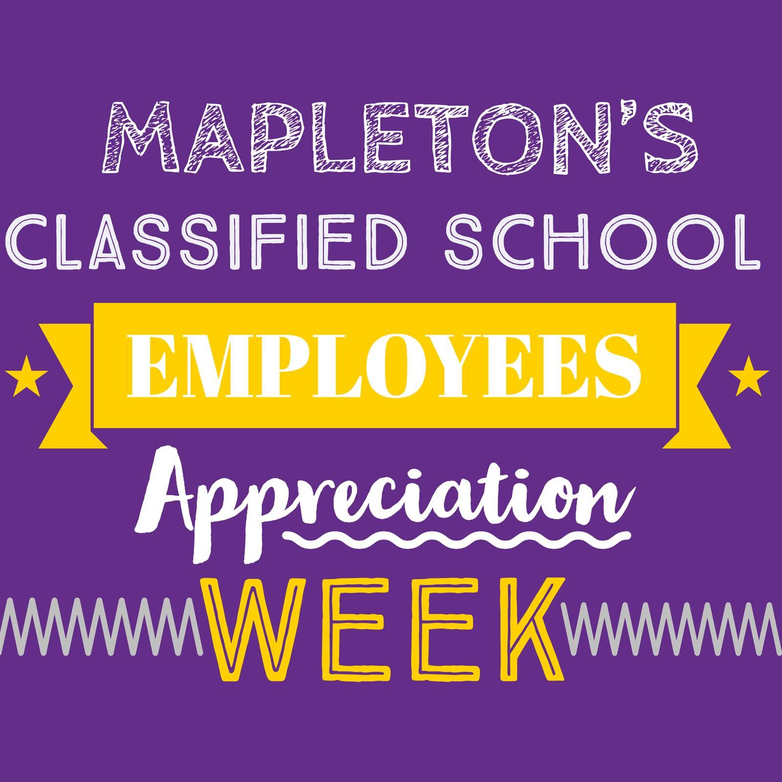 Classified School Employee Week graphic