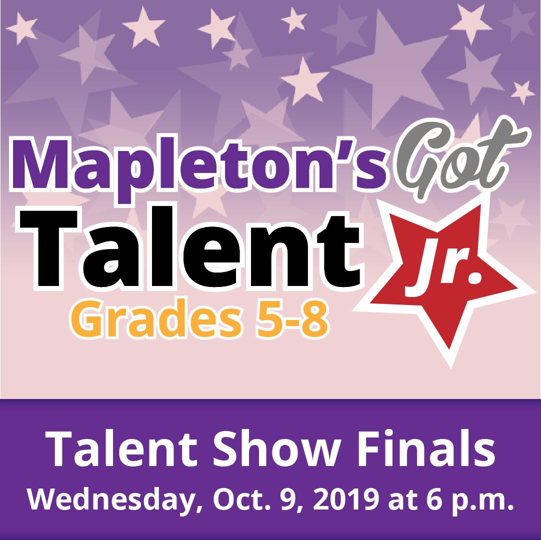 Mapleton's got talent logo