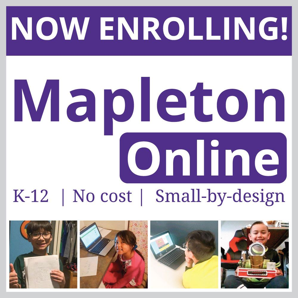Mapleton Online – Now Enrolling!