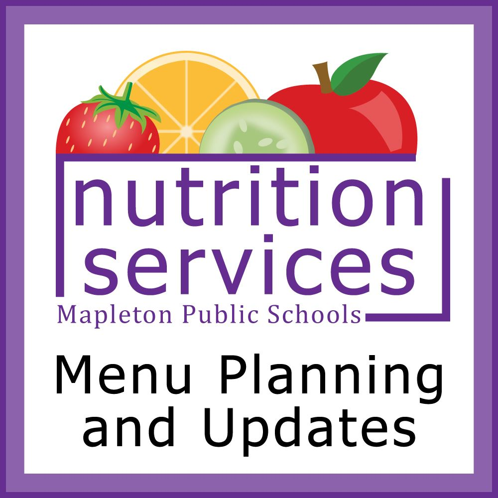 Nutrition Services fall 2020 menu