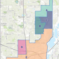 Map of district proposed boundaries