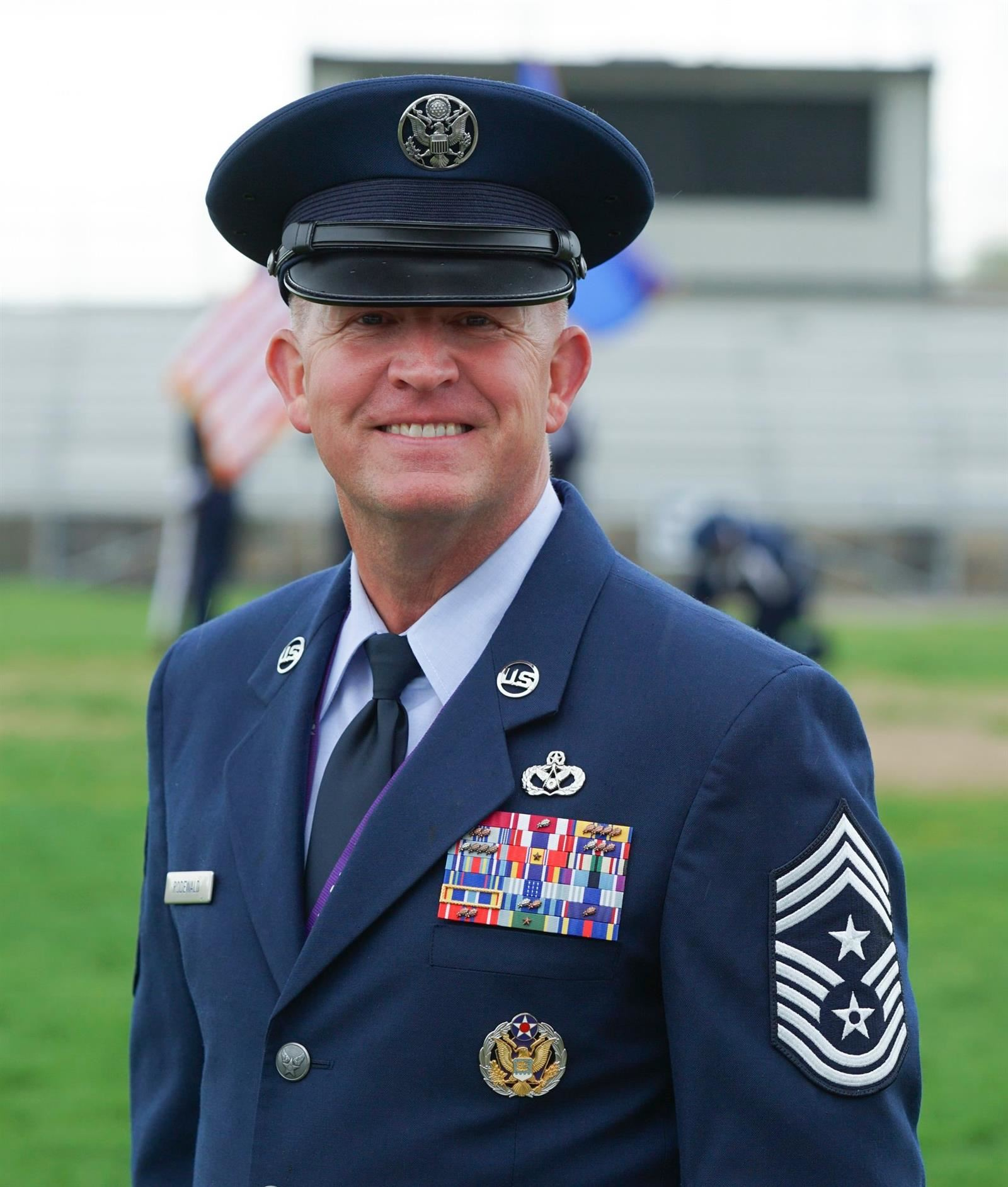 Mapleton's AF JROTC Chief Master Sgt. Rodewald Awarded