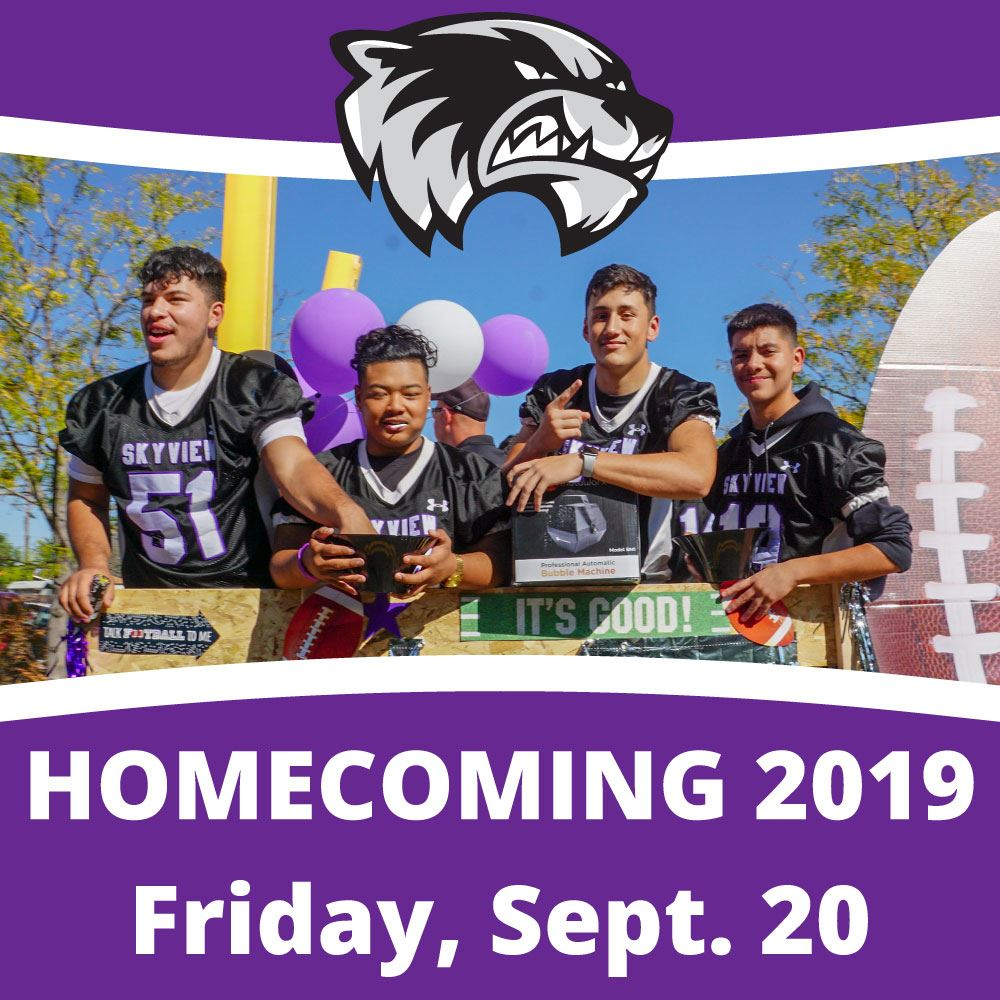 Homecoming is Friday, Sept. 20!