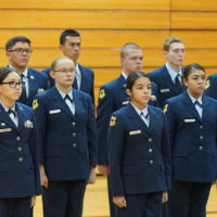 Air Force JROTC Cadets pass unit inspection